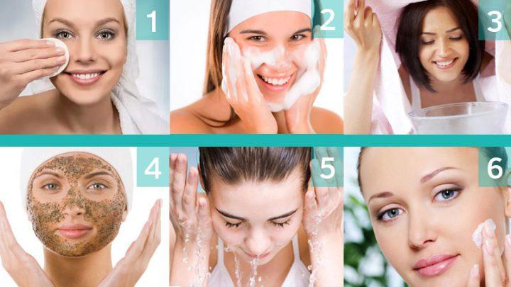 Этапы очищения кожи лица