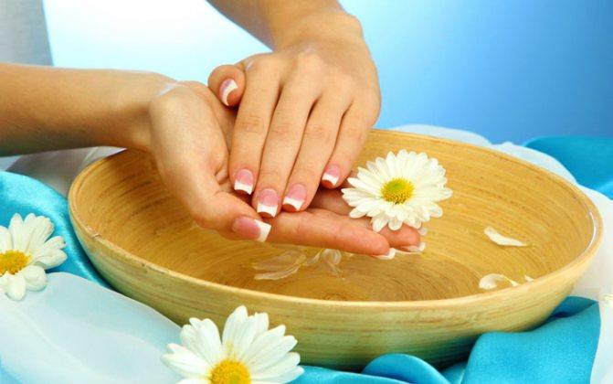 Лечебные ванночки от сухости кожи рук