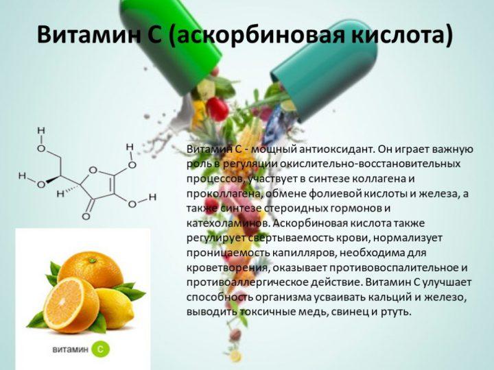 Витамин С, необходимый для выработки коллагена