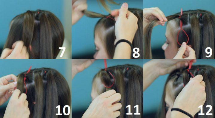 Если разделить волосы на пряди и заплести их через одну в косички