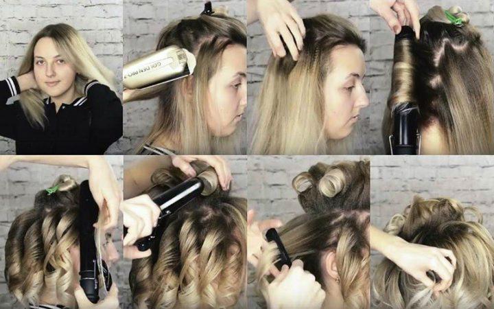 Подкручиваем волосы у корней