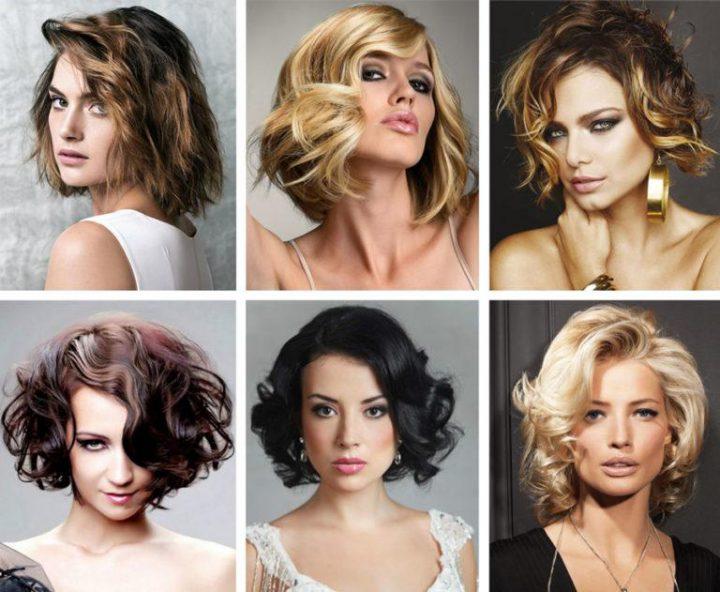 укладки волос на средние волосы