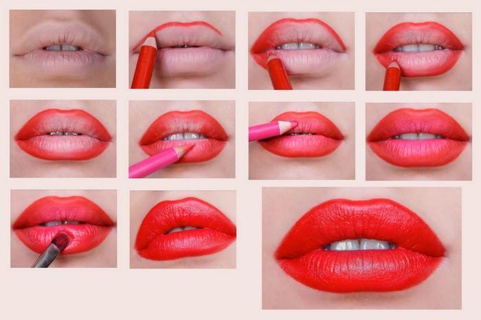 макияж лица - Красим губы