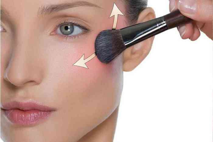 макияж лица - Нанесите румяна