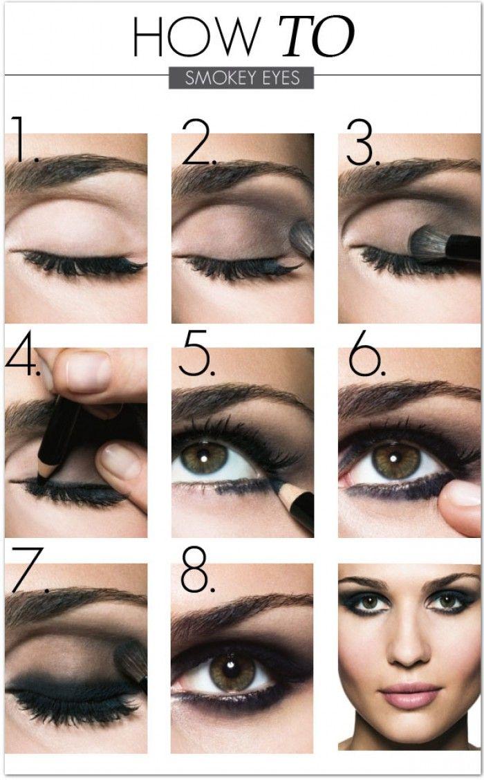 макияж smokey eyes