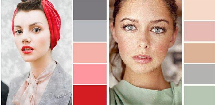 Сочетание тонов косметики дневной макияж