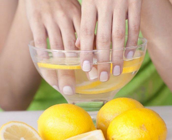 Лимонный сок ванночка для рук и ногтей