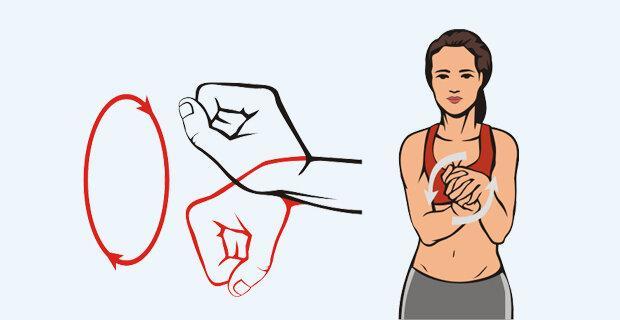 Необходимо ежедневно проводить несложные упражнения, которые будут поддерживать руки в тонусе.
